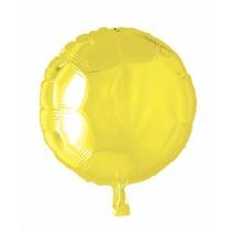 Helium Ballon Rond Geel 46cm leeg