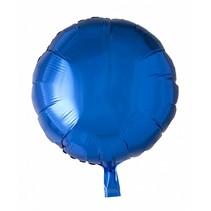Helium Ballon Rond Blauw 46cm leeg