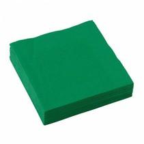Groene Servetten 25x25cm 20 stuks