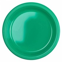 Groene Borden Plastic 23cm 10 stuks