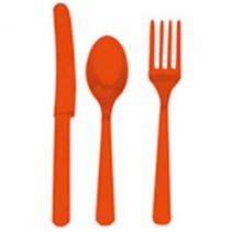 Oranje Bestek Plastic 24 delig