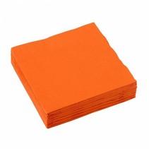 Oranje Servetten 25x25cm 20 stuks