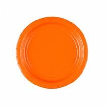 Oranje Gebaksbordjes 18cm 8 stuks