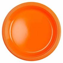 Oranje Gebaksbordjes Plastic 18cm 8 stuks