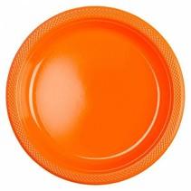 Oranje Borden Plastic 23cm 10 stuks