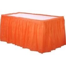Oranje Tafelrok Plastic 426x73cm