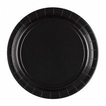 Zwarte Borden 23cm 8 stuks