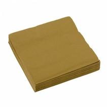 Gouden Servetten 25x25cm 20 stuks