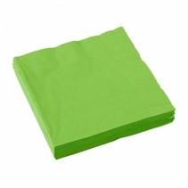 Lime Groene Servetten 33x33cm 20 stuks
