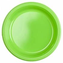 Lime Groene Borden Plastic 23cm 10 stuks