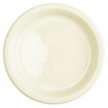 Ivoorkleur Borden Plastic 23cm 10 stuks