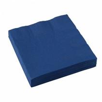 Donkerblauwe Servetten 33x33cm 20 stuks