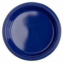 Donkerblauwe Gebaksbordjes Plastic 18cm 8 stuks