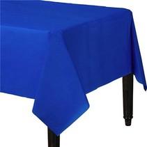 Donkerblauw Tafelkleed Plastic 274x137cm