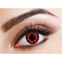 Kleurlenzen Rood/Zwart