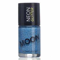Nagellak Blauw Glitter Neon UV 14ml