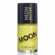 Nagellak Lichtgeel Glitter Neon UV 14ml