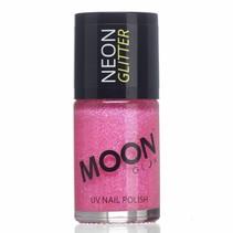 Nagellak Roze Glitter Neon UV 14ml