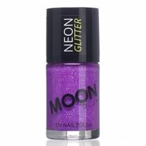 Nagellak Paars Glitter Neon UV 14ml