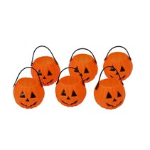 Halloween Pompoen Bakjes 7cm 6 stuks