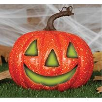 Halloween Pompoen met licht 20cm