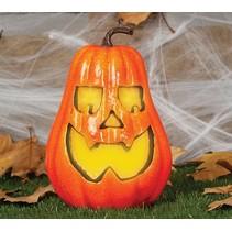 Halloween Pompoen met licht 24cm