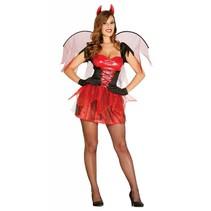 Halloween Kostuum Dames Duivel met vleugels