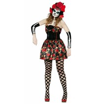 Halloween Kostuum Dames Jurk Skelet Day of the Dead