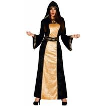 Halloween Kostuum Dames Vampier Goud M/L