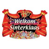 Sinterklaas Deurbord Welkom 45x35cm