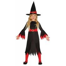 Halloween Kostuum Kind Heks Rood