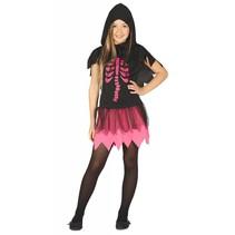 Halloween Kostuum Kind Jurkje Skelet Roze