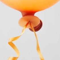 Ballon Snelsluiters Oranje met lint 100 stuks