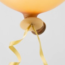 Ballon Snelsluiters Goud met lint 100 stuks