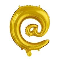 Folie Ballon Apenstaartje @ Goud 41cm met rietje