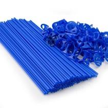 Ballonstokjes Blauw met houders 40cm 100 stuks