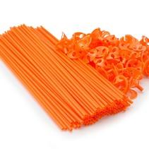 Ballonstokjes Oranje met houders 40cm 100 stuks