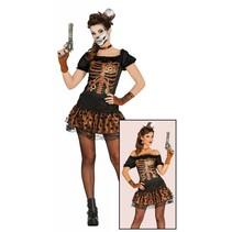 Steampunk Kostuum Dames  Skelet