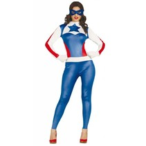 Superheld Kostuum Amerika Dames