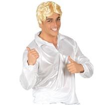 Disco Shirt Glitter Wit 70's