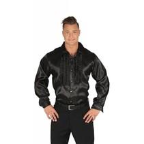 Disco Shirt Zwart 70's
