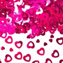 Tafelconfetti Hartjes Roze 14 gram