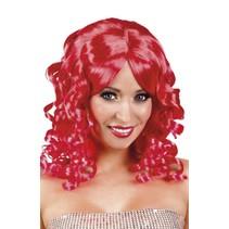 Pruik Half Lang Haar Krul Rood