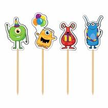 Monster Party Partypicks 8 stuks