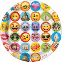 Emoji Borden Versiering 23cm 8 stuks