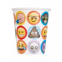 Emoji Bekers 200ml 8 stuks