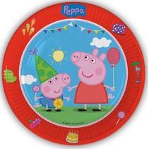 Peppa Pig Borden 23cm 8 stuks