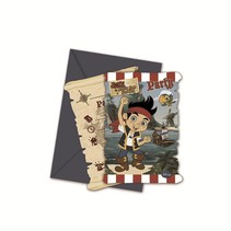 Jake and the Neverland Pirates Uitnodigingen 6 stuks