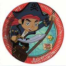 Jake and the Neverland Pirates Gebaksbordjes 20cm 8 stuks