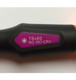 Pfenga Torx 6 / T6 schroevendraaier (pro-serie)